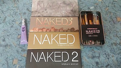 Brand New Urban D Naked 1 2 3 and Smoky Palette Eyeshadow 12pcs Brushes