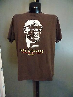 ZION ROOTSWEAR Ray Charles Father of Soul Shirt  1X Brown 2005