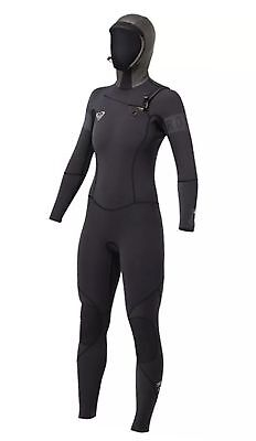 NWT - Roxy Cypher 5/4/3 Hooded Womens Wetsuit, Black - Size 12