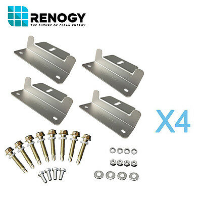 Renogy Solar Panel Mounting Z Bracket 4 Sets for 4 Panels Flat Roof Wall Kit