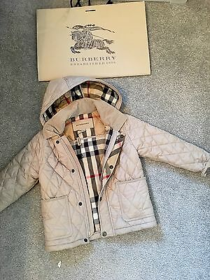 AUTHENTIC BURBERRY QUILTED JACKET / COAT Size: 3 YEARS ***L@@K **