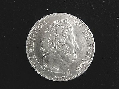 1832 BB France 5 Francs Silver Coin Looks XF Km #749.3