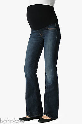 *SALE* 7 For All Mankind MATERNITY Bootcut jeans W30 L31 12 Designer denim BLUE