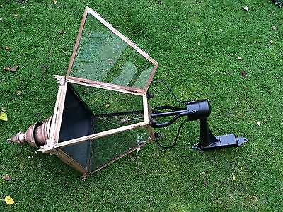 Victorian Antique Style Outdoor Copper Lantern Light Very Large 1.5m High