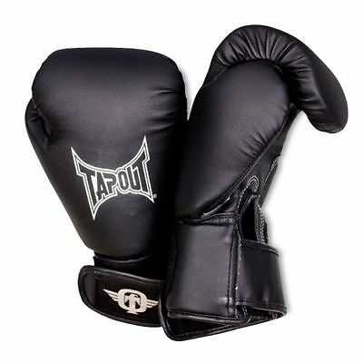 Tapout 12oz Black Boxing TRAINING  Gloves Muay Thai MMA Mens