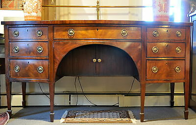 Antique Late 18th Century English Tambour Sideboard 6' NR
