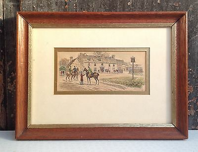 J Swain engraving c1885 The Fox & Hounds North Aston nor Deddington Oxon  2 of 2