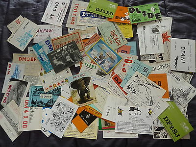 Joblot 100 QSL cards from Germany mostly from 1970s 1980s
