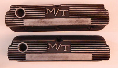 Mickey Thompson Nostalgia Finned Aluminum Valve Covers SBF Ford 140R-55B R12812
