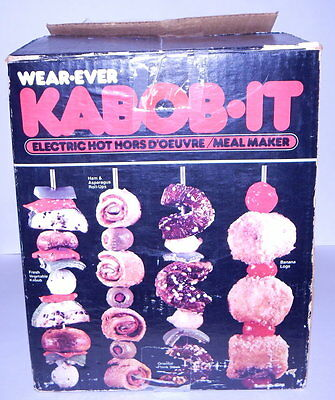 Wear Ever Kabob It Electric Hot Hors D'oeuvre Meal Maker Used in box R12817