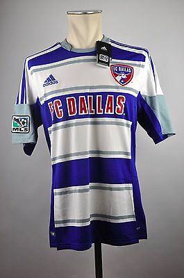 FC Dallas 96 Trikot Away Tgl M L XL Adidas MLS Blu Jersey 2012-2013 USA Calcio