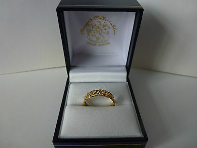 NEW, Ladies, 9ct Yellow Gold Celtic Eternity Ring, size L 1/2
