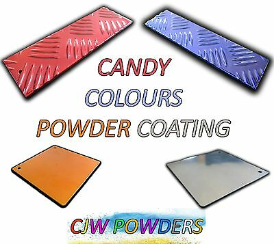 Powder Coating Powder CANDY COLOURS + REFLECTION CHROME POWDER 1/4 KG Bag