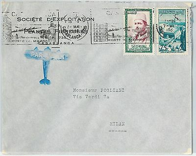 59268 -    MOROCCO - POSTAL HISTORY: COVER to ITALY - 1962
