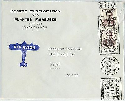 59272 -    MOROCCO - POSTAL HISTORY: COVER to ITALY - 1967