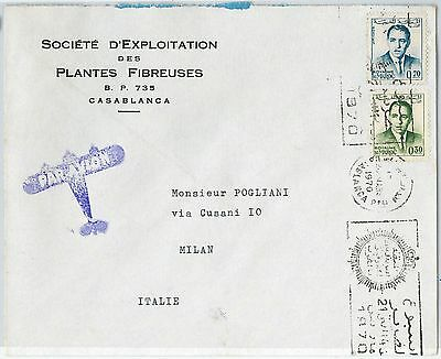 59274  -    MOROCCO - POSTAL HISTORY: COVER to ITALY - 1970