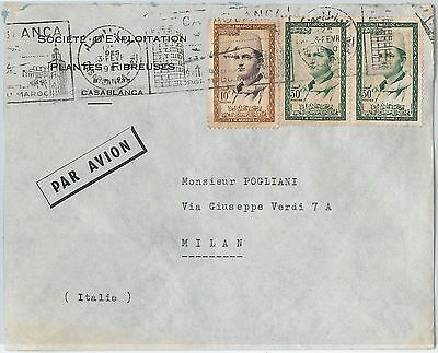 59280 -    MOROCCO - POSTAL HISTORY: COVER to ITALY - 1960