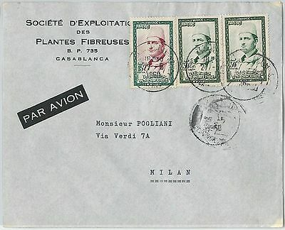 59281 -    MOROCCO - POSTAL HISTORY: COVER to ITALY - 1960