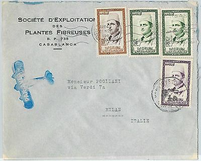 59284 -    MOROCCO - POSTAL HISTORY: COVER to ITALY - 1961