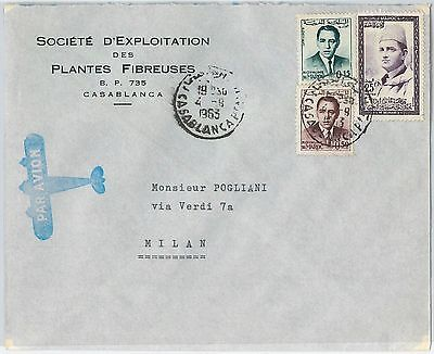 59287  -    MOROCCO - POSTAL HISTORY: COVER to ITALY - 1963