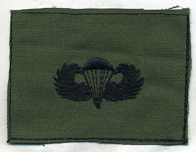 Vietnam Era US Army Paratrooper Wing OD Subdued Patch