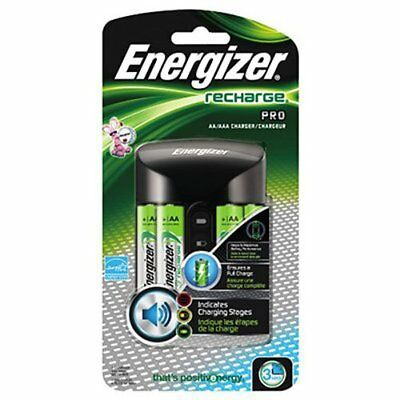 2 Pack Energizer AA/AAA Charger with 4 NiMH AA Cell Rechargeable Batteries Each
