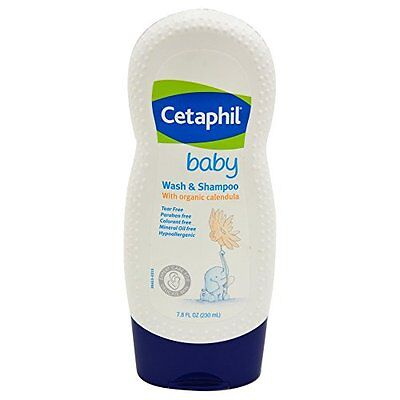 Cetaphil Baby Wash and Shampoo with Organic Calendula 7.8 Ounce Each