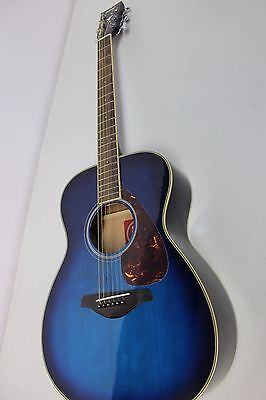 Yamaha FS720S Acoustic Guitar - Blue - 6-String Hollow Body