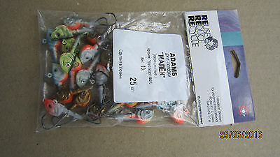 25 NEW 10gr (3/8oz) Fishing Jig Painted #1 Hook Jigs Heads Сolored from Ukraine