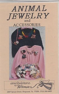 Jane Anderson's Whimsies ANIMAL JEWELRY & Accessories Patterns & Instructions