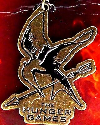 """Official NECA """"The Hunger Games"""" Movie Mockingjay Cutout Metal Keychain Licensed"""