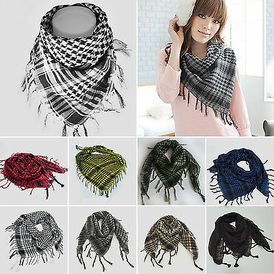 New Men Womens Military Arab Tactical Desert Army Shemagh KeffIyeh Scarf Scarves