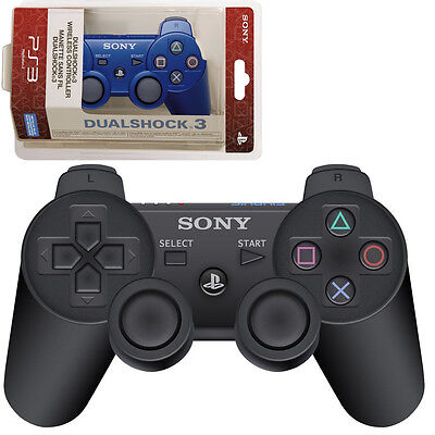 New Sealed Wireless Bluetooth Controller For PS3 -Official Black White Blue Red