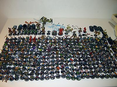 HUGE LOT OF WIZKIDS 325+ FIGURES!  MECHWARRIOR Mage Knight & Others