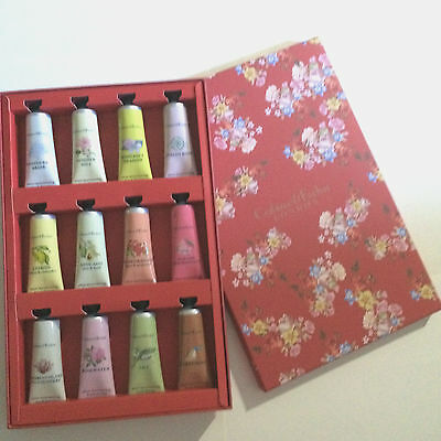 New Crabtree And Evelyn 12 Pcs Red Boxed Ultra-Moisturizing Hand Therapy Set