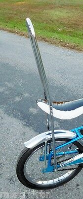 """Chrome 42"""" TALL SISSY BAR for Vintage Banana Seat Muscle Bike Dragster Bicycle"""