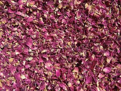 Dried Pink Rose Petals Organic - 100g - Rosa centifola - Free Postage