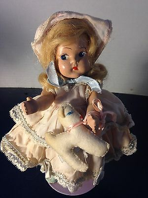 1940's Composition Vogue Toddles Doll In Tagged Dress As Little Bo Peep