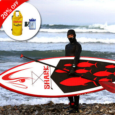 "Shark SUPs 9'10*32"" iSUP inflatable stand up paddle board w/accessoreis"