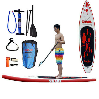 "Shark SUPs 11'8*30"" iSUP touring stand up paddle board w/accessories"
