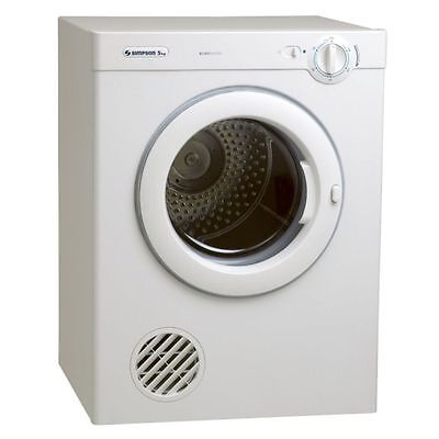 Simpson 39S500M 5kg Dryer with stainless steel drum and rotary control