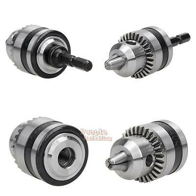 """1 Set of Electric Drill Chuck 6.5-13mm Thread 3/8-24UNF 1/4""""Hex Shank Power Tool"""
