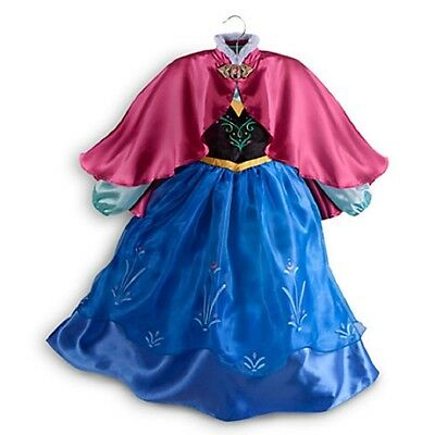 Authentic Disney Store Frozen Anna Girls Dress Costume Size 9/10 Nwt
