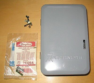 Unused Older Intermatic T103 Timer Switch DPST w Extra Trippers Made in USA