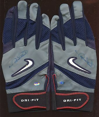 Gary Sheffield Game Issued Pair Gray Nike Sheff Batting Gloves Autographed Holo