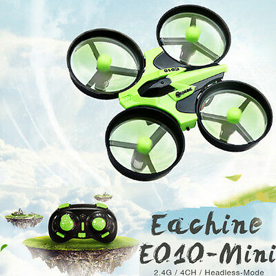 Eachine E010 Mini 2.4G 4CH 6 Axis Headless Mode Night Light RC Quadcopter RTF AU