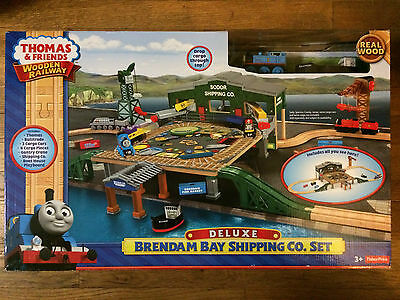 Thomas & Friends Wooden Railway, Brendam Bay Shipping Co.Set, NEW, FREE SHIPPING