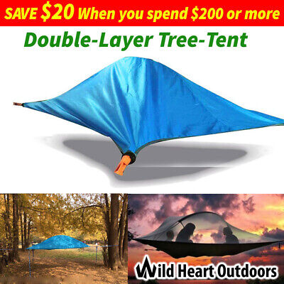 Double Layer Tree Tent 2-Person Camping Hammock Hiking 4 seasons
