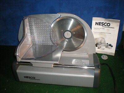 NESCO Professional food meat cheese Electric SLICER FS-150PR Works used