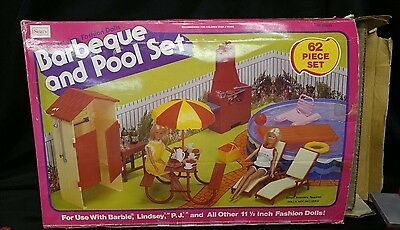 Vintage Barbie Barbeque and Pool Set